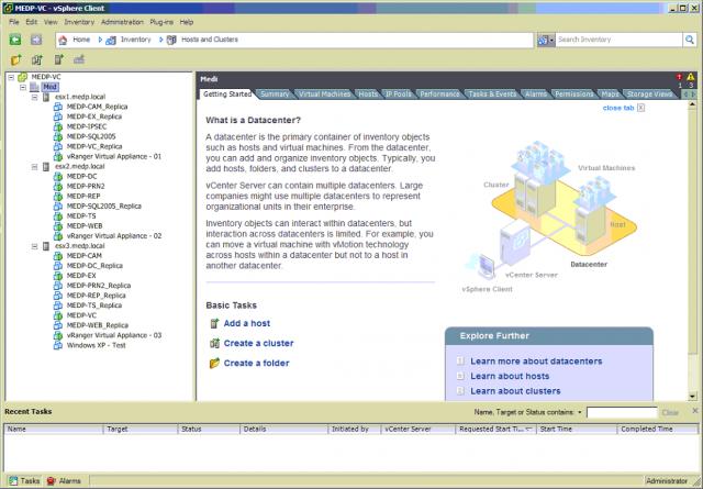 Prehľad virtuálnych zariadení cez vSphere clienta