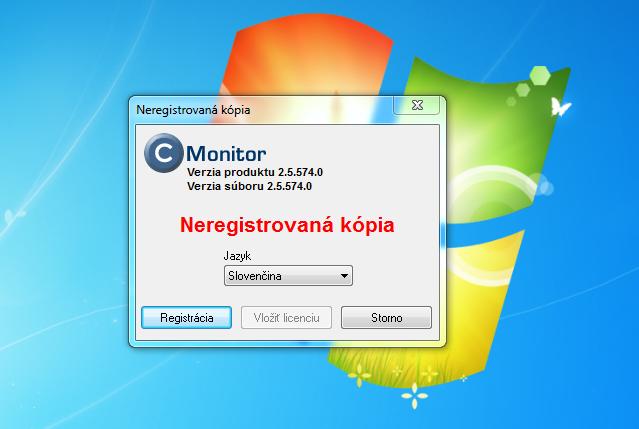 Registrácia C-Monitor klienta