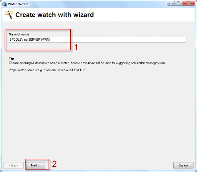 Obrázok: Add watch with wizard