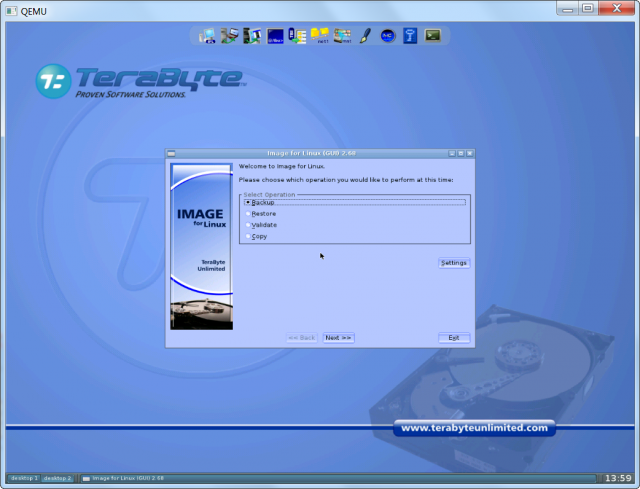Test nabootovania USB kľúča pomocou utility QMENU