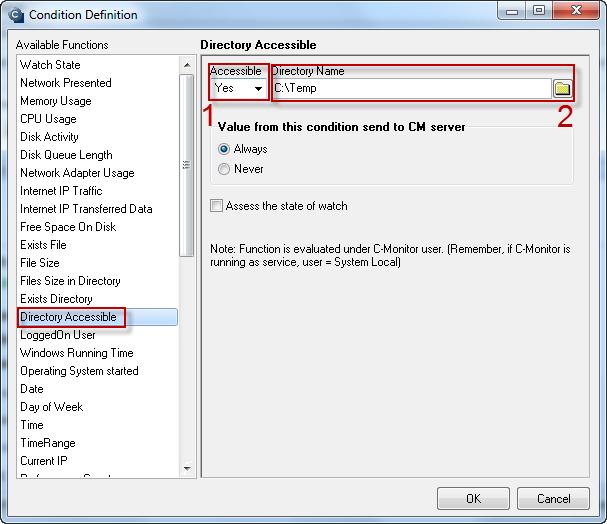 Obrázok: Directory Accessible