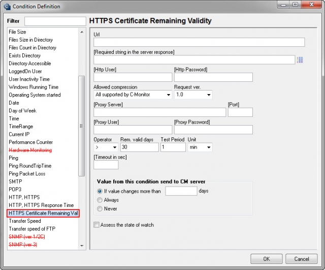 HTTPS Certificate Remaining Validity