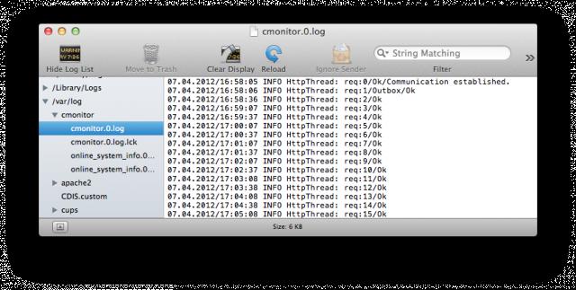 Zobrazenie Logov C-Monitora