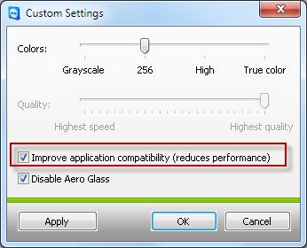 2. možný spôsob opravy zobrazovania menu - zmena kvality zobrazenia na Custom settings  v TMV