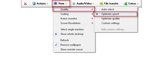 1. možný spôsob opravy zobrazovania menu - zmena kvality zobrazenia na rýchle v TMV