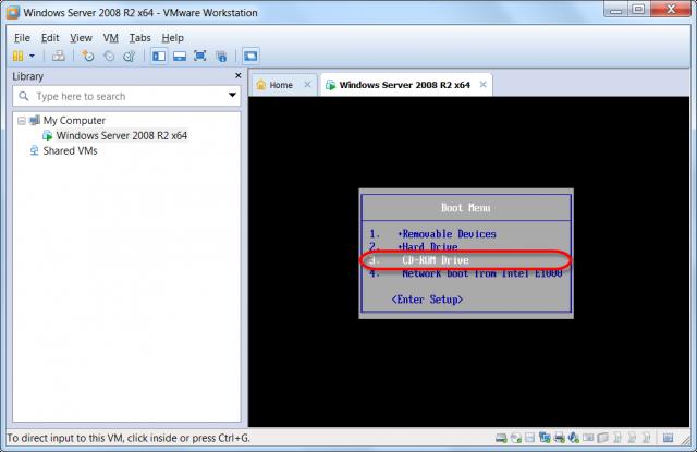 Zvolíme bootovanie z CD-ROM mechaniky