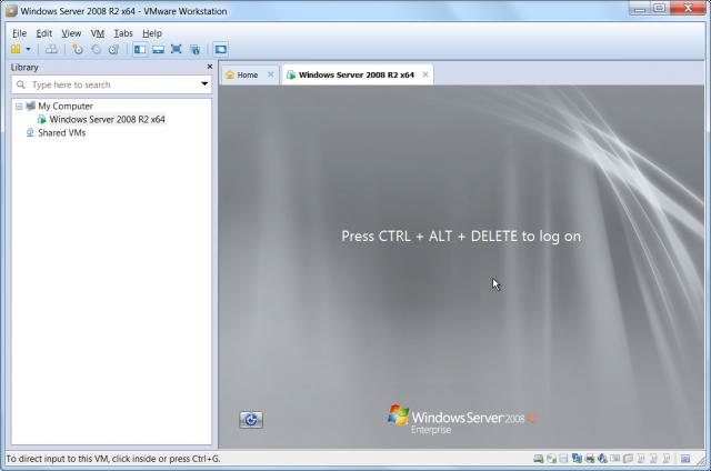 Úspešne spustená inštancia Windows Server 2008 R2, obnovená z C-Image zálohy