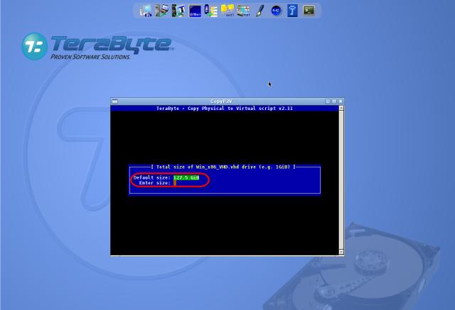 Nastavenie celkovej veľkosti diskov novej VM (virtuálneho stroja)