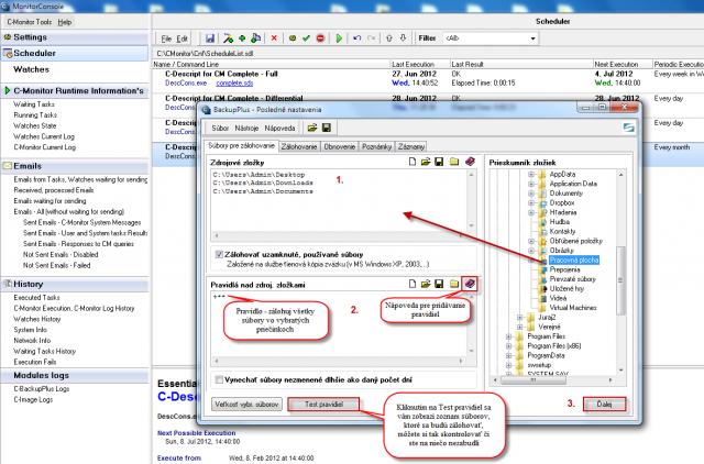 Úvodná obrazovka pre nastavenie C-Backup Plus