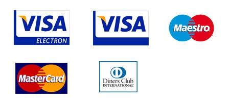 Seznam platebních karet přijímaných k online platbě