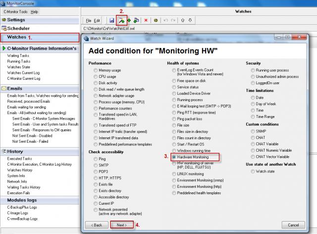 Pridanie watchu pre HW monitoring na PC