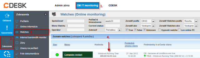 Watches (Online monitoring)