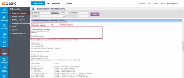 Časové obmedzenie počítania prenesených údajov v Internet bandwith monitoringu