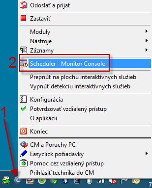 Obrázok: Spusenie C-Monitor konzoly